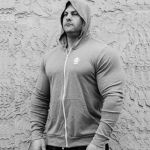 Animal Lightweight Hoodie Grey