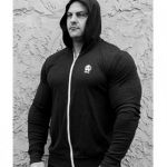 Animal Lightweight Charcoal Hoodie with Zipper