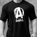 Animal T-Shirt Logo A Black
