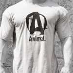 Animal T-Shirt Logo A Grey